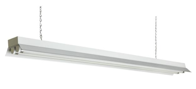 Imagen de una lámpara de iluminación: Tubos fluorescentes.